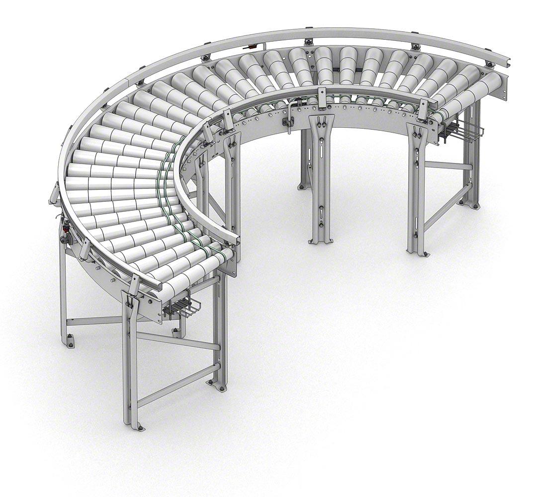 Поворотный роликовый конвейер тсн 160 а транспортер